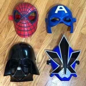 4 Children's Masks - Captain America Power Ranger